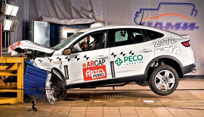 Как Renault Arkana для России прошел фронтальный краш-тест