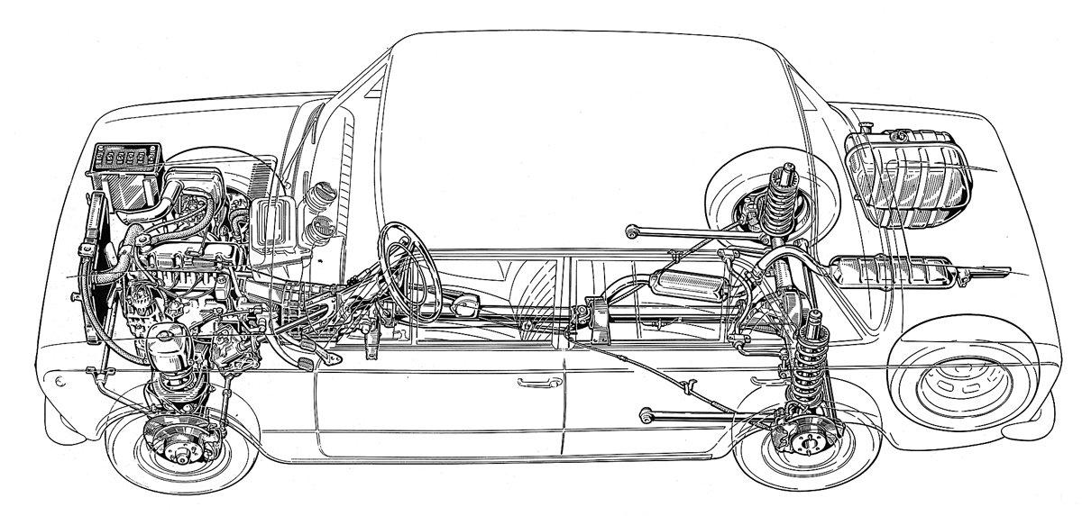 Fiat 124 как есть. Итальянцы долго упирались с двигателем и еще дольше — с задними дисковыми тормозами, но их колодки во время испытаний на Дмитровском автополигоне истирались от летящего из-под передних колес песка за 400—800км. Автомобили Fiat 124R с учетом замечаний (R=Russie) пришли в СССР виюле 1967 года