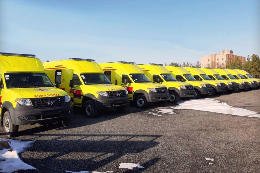 С конвейера казахстанского завода сошли первые реанимобили на базе УАЗ «Профи»