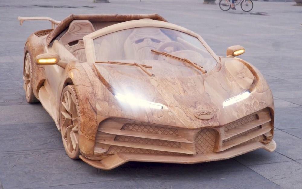 Деревянный Bugatti! Он еще и ездит???