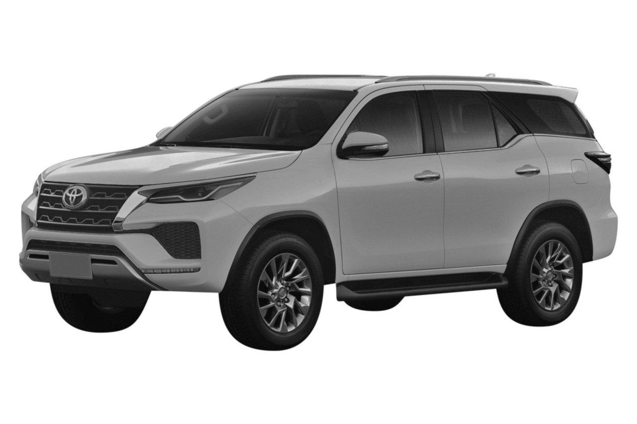 Дизайн обновленного Toyota Fortuner запатентовали в России