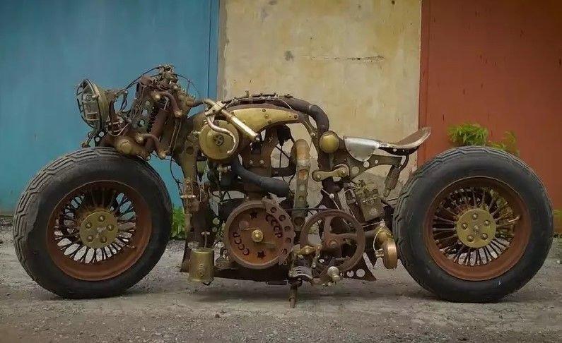Проект «СССР» — уникальный мотоцикл из Тулы. Видео.